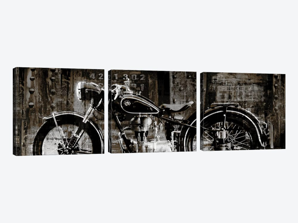 Vintage Motorcycle by Dylan Matthews 3-piece Canvas Wall Art