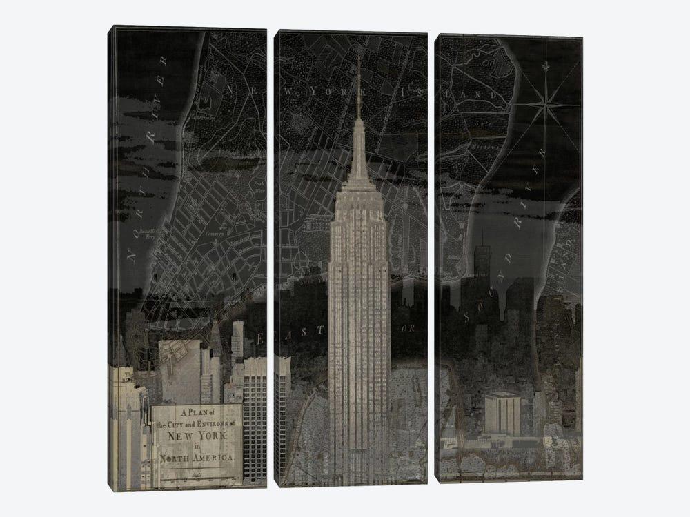 Vintage New York In Black I by Dylan Matthews 3-piece Art Print