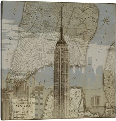 Vintage NYC I Canvas Art Print