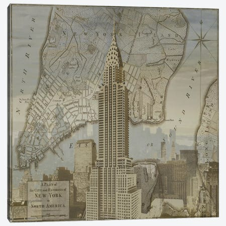 Vintage NYC II Canvas Print #DYM27} by Dylan Matthews Canvas Artwork