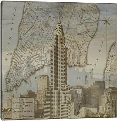 Vintage NYC II Canvas Art Print