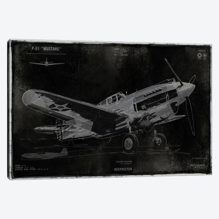 Vintage War Plane Canvas Print #DYM29} by Dylan Matthews Canvas Art Print
