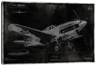 Vintage War Plane Canvas Print #DYM29
