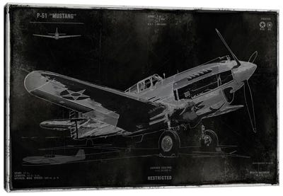 Vintage War Plane Canvas Art Print
