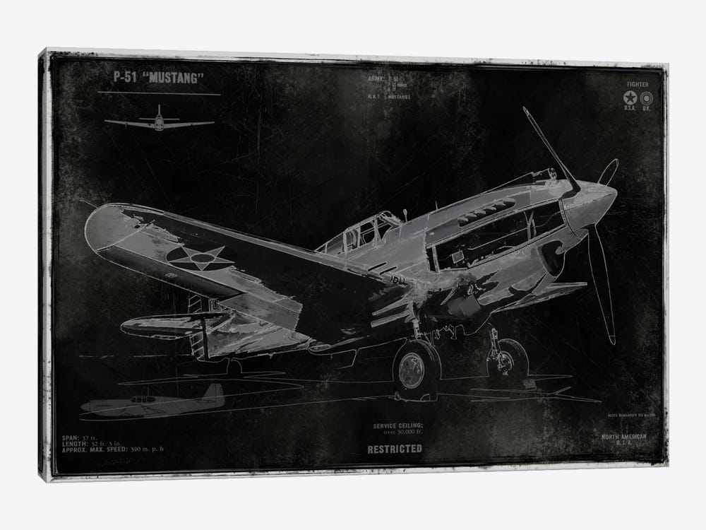 Vintage War Plane by Dylan Matthews 1-piece Canvas Art