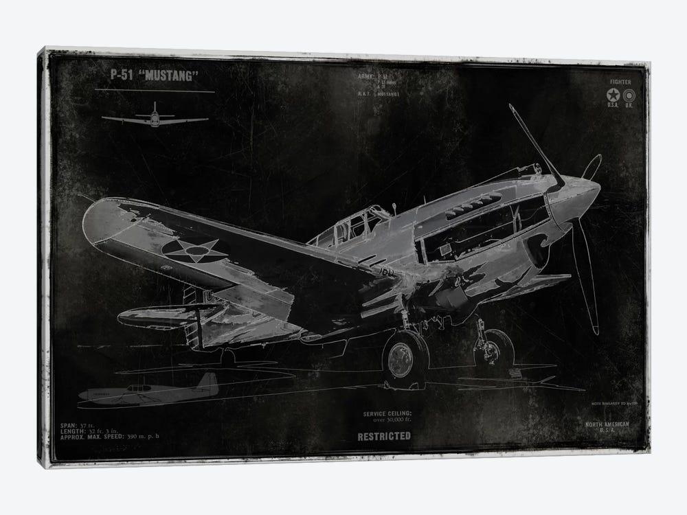 Vintage War Plane by Dylan Matthews 1-piece Canvas Art