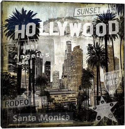 Landmarks L.A. Canvas Art Print