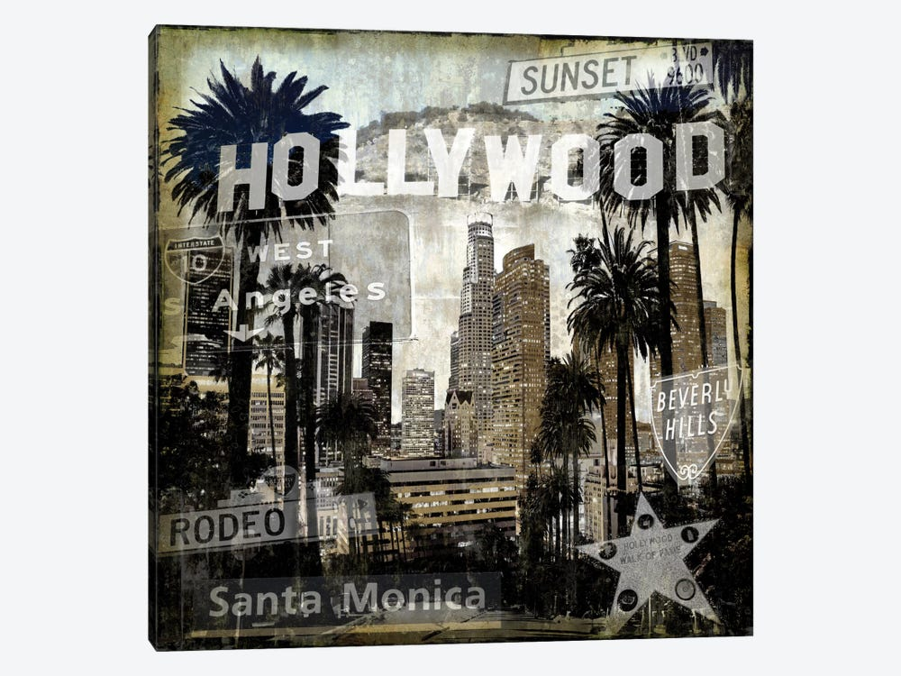 Landmarks L.A. by Dylan Matthews 1-piece Canvas Art