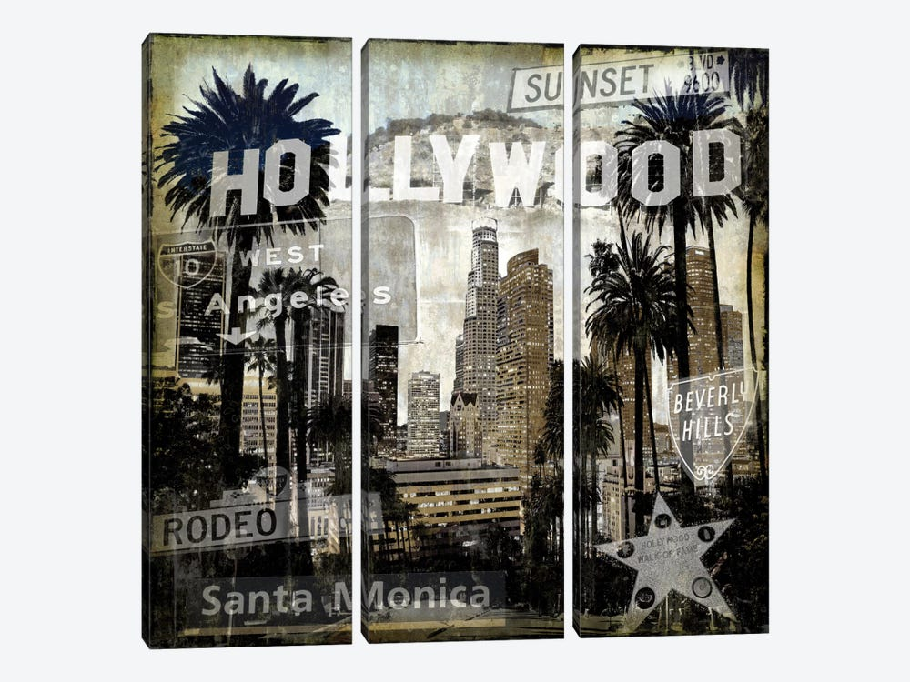 Landmarks L.A. by Dylan Matthews 3-piece Canvas Art