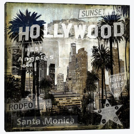 Landmarks L.A. Canvas Print #DYM9} by Dylan Matthews Canvas Wall Art