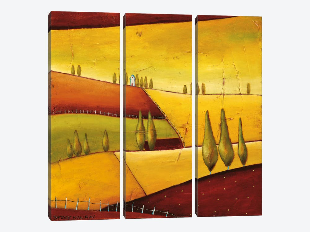 Roads III by Stacy Dynan 3-piece Canvas Art Print