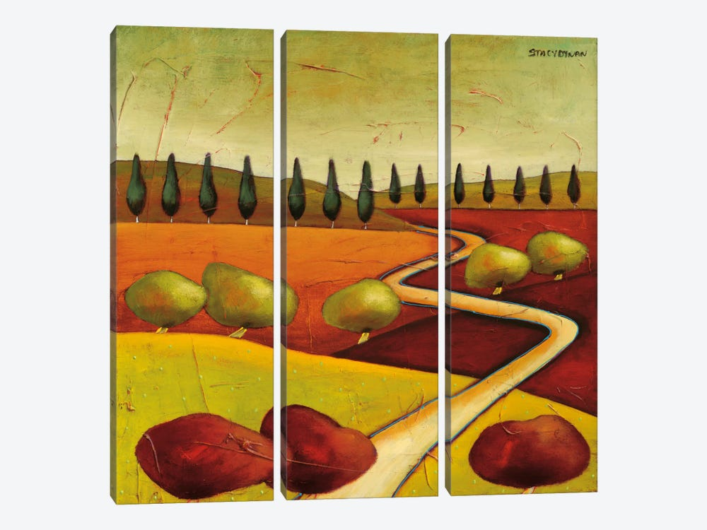 Roads IV by Stacy Dynan 3-piece Canvas Artwork