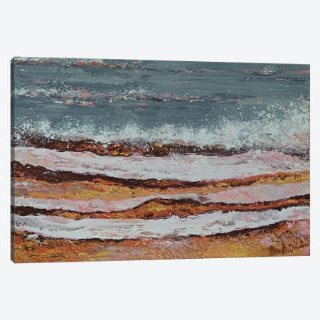 Breaking Waves III Canvas Print #DZB11} by Adriana Dziuba Canvas Art Print
