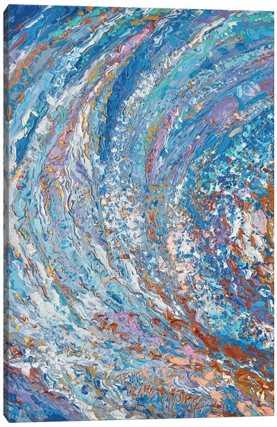 Crystal Wave Canvas Art Print
