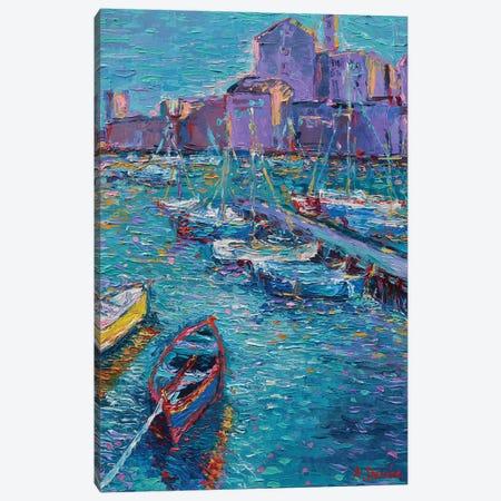 Fishing Boats of Giovinazzo Canvas Print #DZB14} by Adriana Dziuba Canvas Art