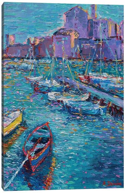 Fishing Boats of Giovinazzo Canvas Art Print