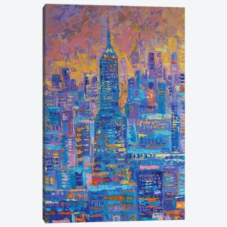 Manhattan Canvas Print #DZB21} by Adriana Dziuba Canvas Artwork