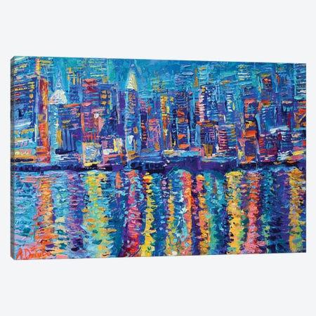 New York The City That Never Sleeps Canvas Print #DZB23} by Adriana Dziuba Canvas Art