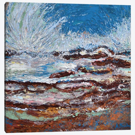 Ocean Waves Canvas Print #DZB24} by Adriana Dziuba Canvas Print