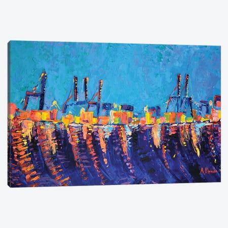 Port of Malaga Canvas Print #DZB27} by Adriana Dziuba Canvas Art Print