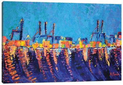 Port of Malaga Canvas Art Print