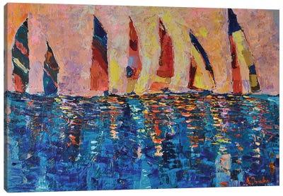 Race at Dusk Canvas Art Print