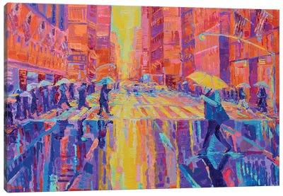 Rain in New York Canvas Art Print