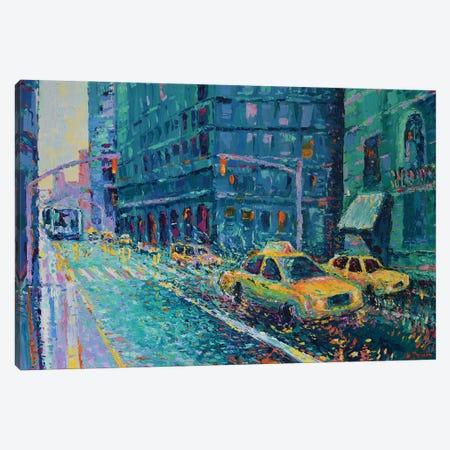 Rainy Day in New York Canvas Print #DZB30} by Adriana Dziuba Art Print