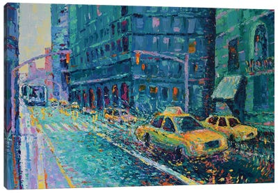 Rainy Day in New York Canvas Art Print