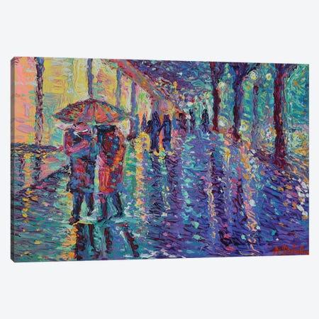 Rainy Night at The City Canvas Print #DZB31} by Adriana Dziuba Canvas Art Print