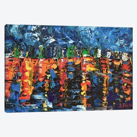 Sleepless City Canvas Print #DZB32} by Adriana Dziuba Canvas Art Print