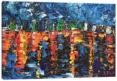 Sleepless City Canvas Art Print