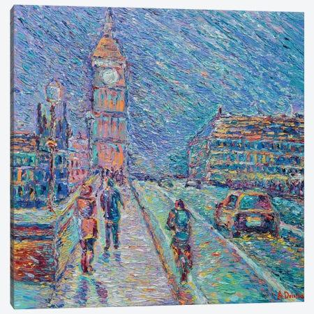 Streets of London Canvas Print #DZB34} by Adriana Dziuba Canvas Artwork
