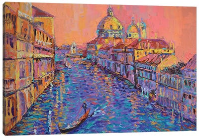 Sunset over the Grand Canal in Venice Canvas Art Print
