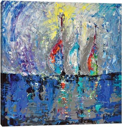 Three Sailboats Canvas Art Print