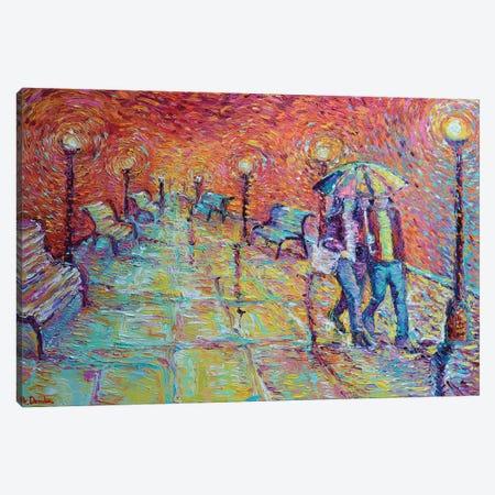 Walking In Autumn Rain Canvas Print #DZB45} by Adriana Dziuba Canvas Art Print