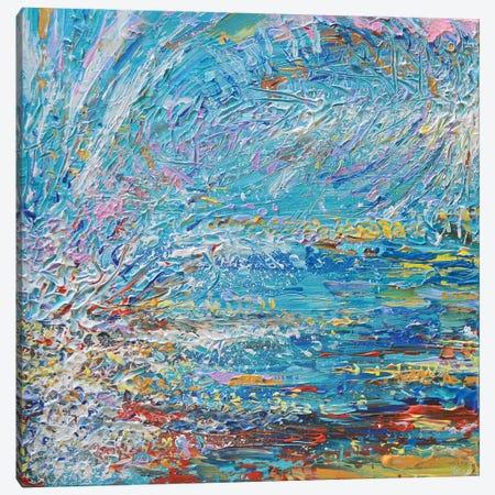 Blue Wave Diptych I Canvas Print #DZB4} by Adriana Dziuba Art Print