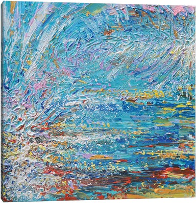 Blue Wave Diptych I Canvas Art Print