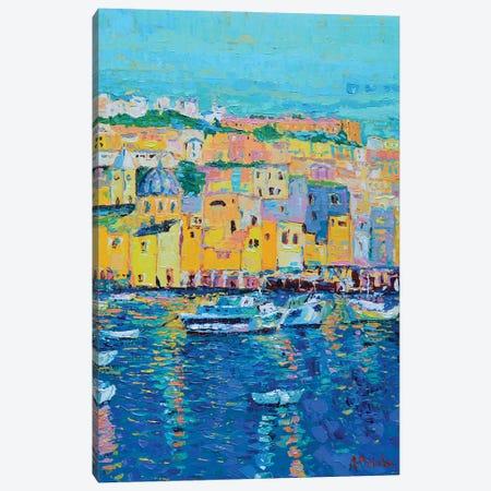 Boats of Genoa Canvas Print #DZB6} by Adriana Dziuba Canvas Print