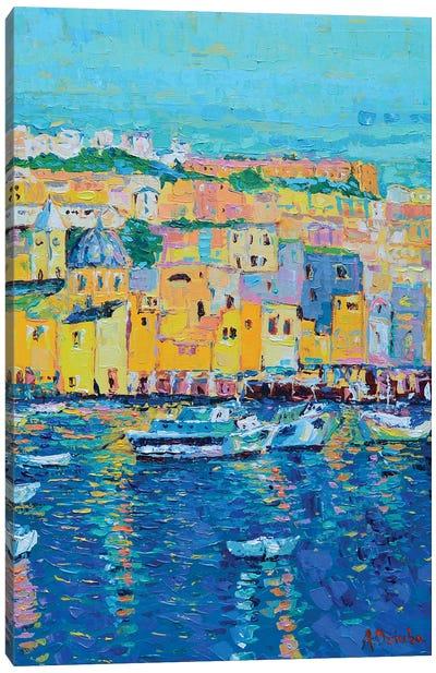 Boats of Genoa Canvas Art Print