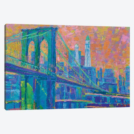 Brooklyn Bridge Canvas Print #DZB7} by Adriana Dziuba Art Print