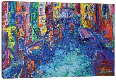 City of Canals Canvas Art Print