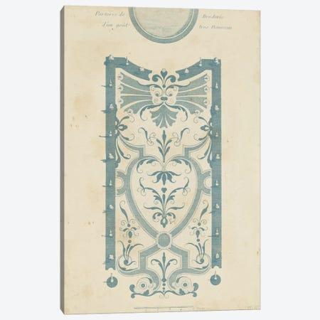 Garden Design In Blue III Canvas Print #DZD3} by DeZallier d'Argenville Canvas Art