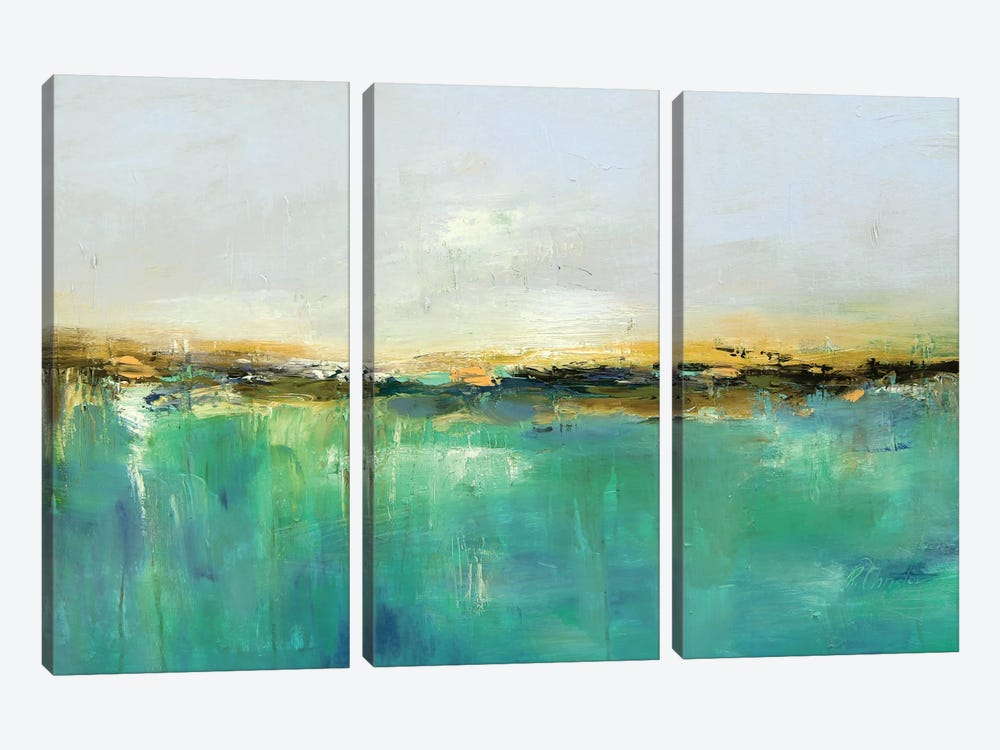 Abstract Landscape XIX by Radiana Christova 3-piece Canvas Artwork