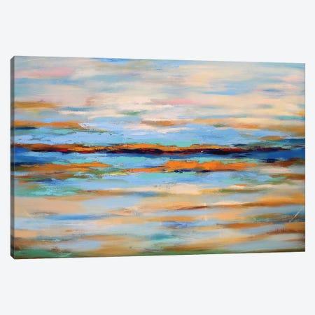 Abstract Seascape 3-Piece Canvas #DZH12} by Radiana Christova Canvas Print