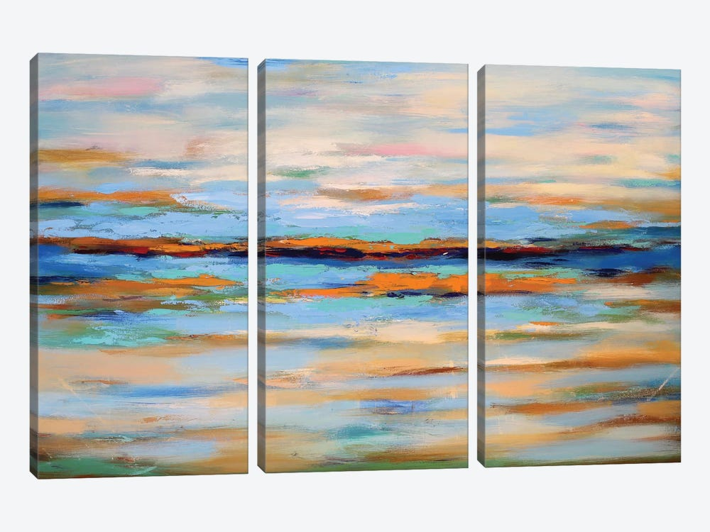 Abstract Seascape by Radiana Christova 3-piece Canvas Artwork