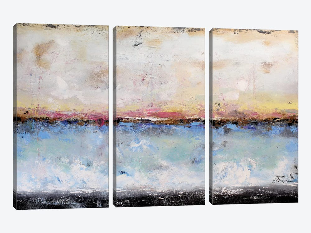 Abstract Seascape VII by Radiana Christova 3-piece Art Print