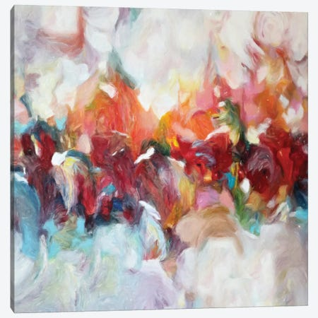 Abstract Flowers Canvas Print #DZH140} by Radiana Christova Canvas Artwork
