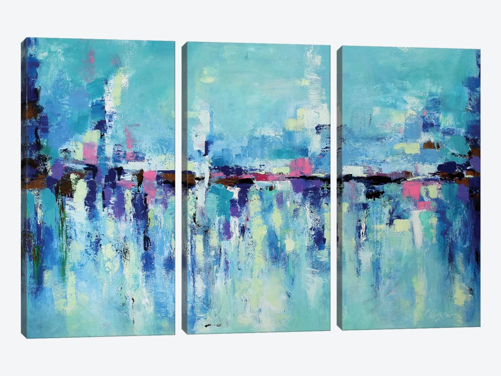 Abstract Seascape X by Radiana Christova 3-piece Art Print