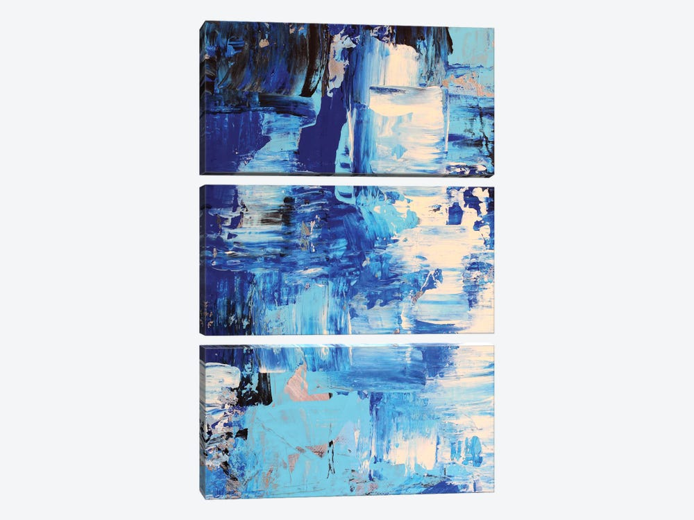 Blue Abstract I by Radiana Christova 3-piece Art Print